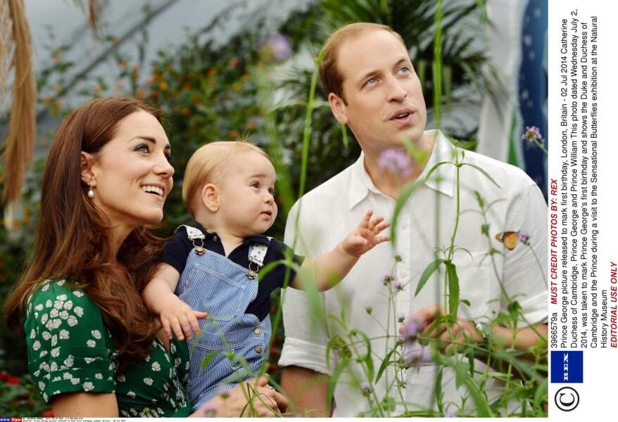 Prince George, sur la photo officielle de son premier anniversaire, à Londres (juillet 2014)