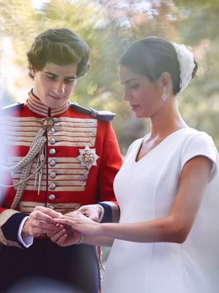 """Fernando Fitz-James Stuart, duc de Huescar et Sofia Palazuelo se sont dits """"oui"""" au palais de Liria le 6 octobre."""