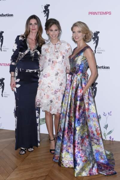 Sophie Thalmann pose avec ses complices de beauté à Paris