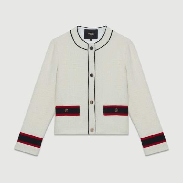 Lainée, veste courte en tweed, 295 € (Maje).