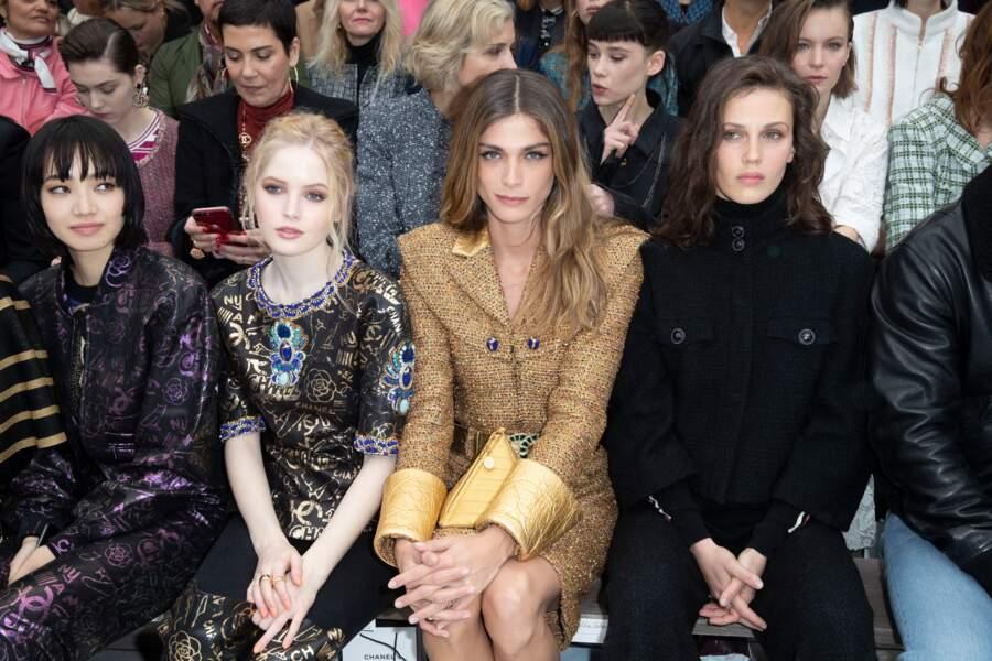Nana Komatsu, Ellie Bamber, Elisa Sednaoui, Marine Vacth étaient côte à côte au défilé Chanel.