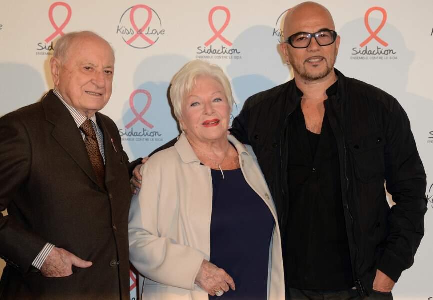 Pierre Bergé, Line Renaud, Pascal Obispo