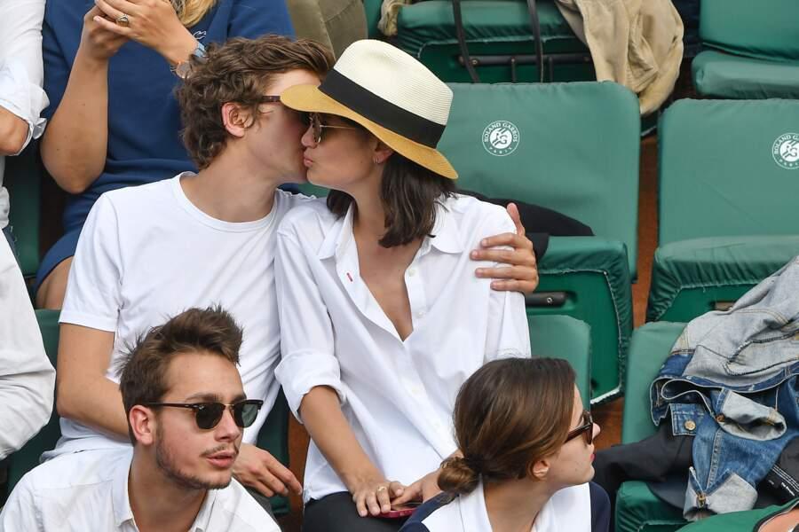 Thomas Soliveres et sa compagne Nassima Benchichou à Roland Garros ce 29 mai 2018