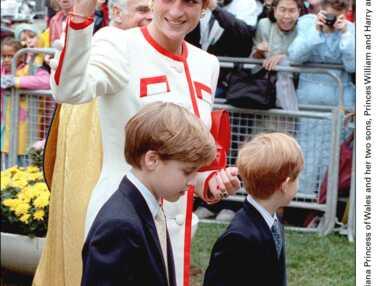 Princesse Diana William et harry, 1er voyage au Canada Octobre 1991