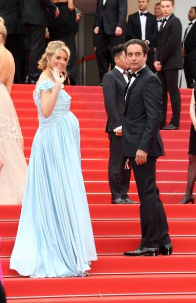 Sylvie Tellier épanouie à Cannes avec son mari pour le film Plaire, Aimer et courir vite