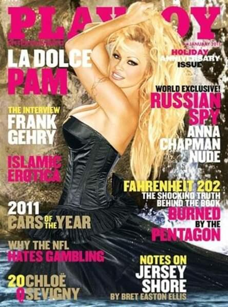 2011, Pamela Anderson plus habillée que jamais pour une couverture de Playboy