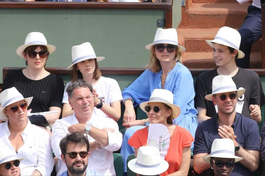 Julie Gayet et son fils à Roland Garros le 9 juin 2018