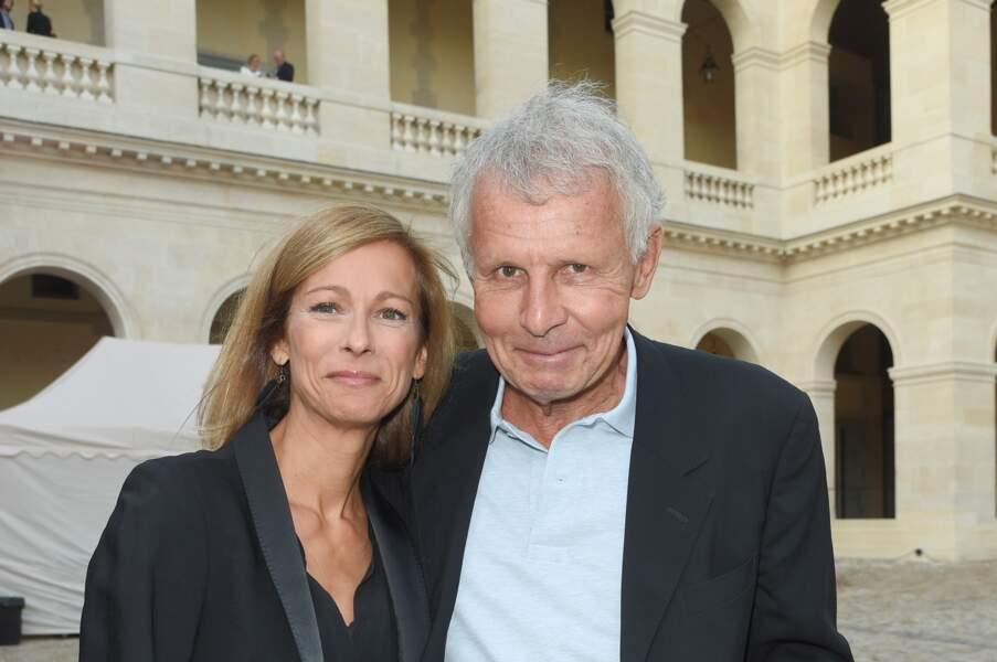 Anne Gravoin et Patrick Poivre d'Arvor complices à l'hôtel National des Invalides
