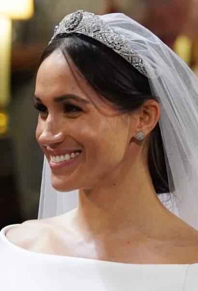 Meghan Markle tout sourire