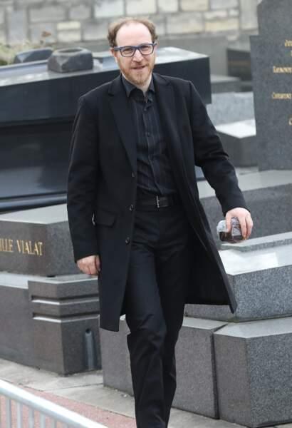 Marius Colucci lors des obsèques de Véronique Colucci