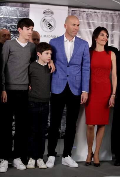 Zinédine Zidane et sa femme Véronique le 4 janvier 2016