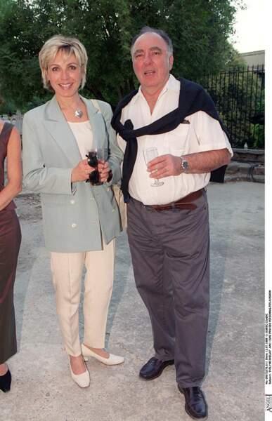 Evelyne Dhéliah et son mari en 2006