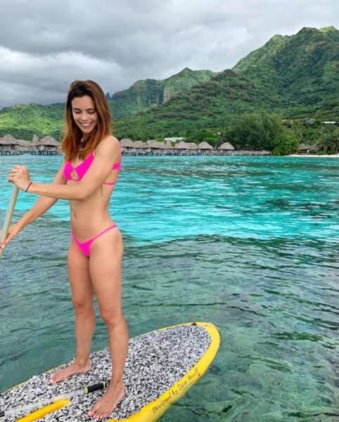 Décidément, le bikini fluo a la cote chez les Miss France, puisque Marine Lorphelin y a également succombé