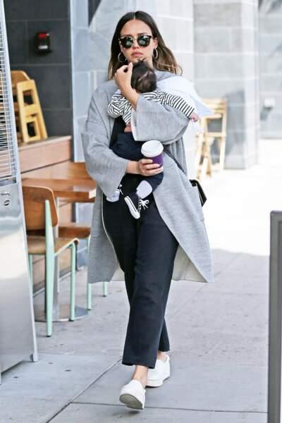 Jessica Alba, maman de Honor Marie, Haven Garner et Hayes Alba
