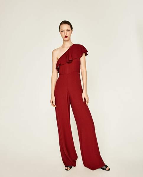Combinaison longue asymétrique, Zara - 49,95€