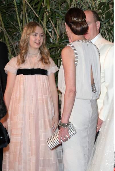 "Caroline de Monaco a en effet ""recyclée"" sa robe Chanel pour la soirée de mariage de son neveu, Louis Ducruet"