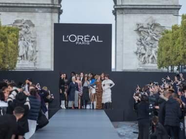Jane Fonda, Thylane Blondeau...premier défilé pour l'Oréal Paris sur les champs-élysées