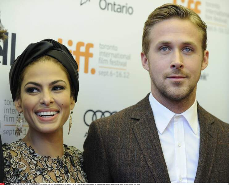 Ryan Gosling and Eva Mendes en 2012 à Toronto