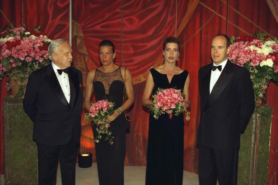 Rainier, Stéphanie, Caroline et Albert de Monaco au Bal de la Rose, en 1997