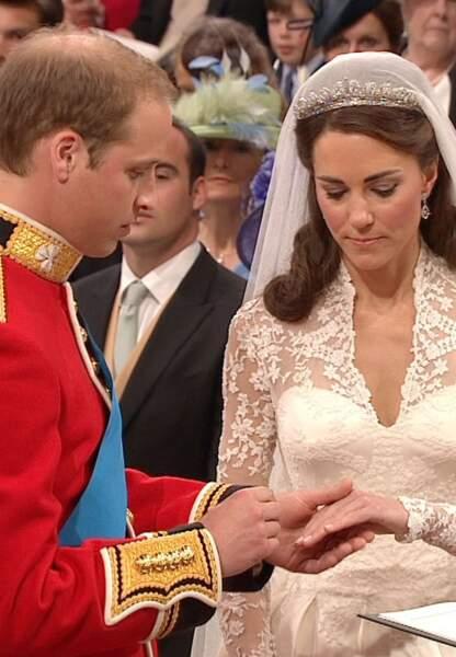 Kate et William leur jour de leurs noces en 2011