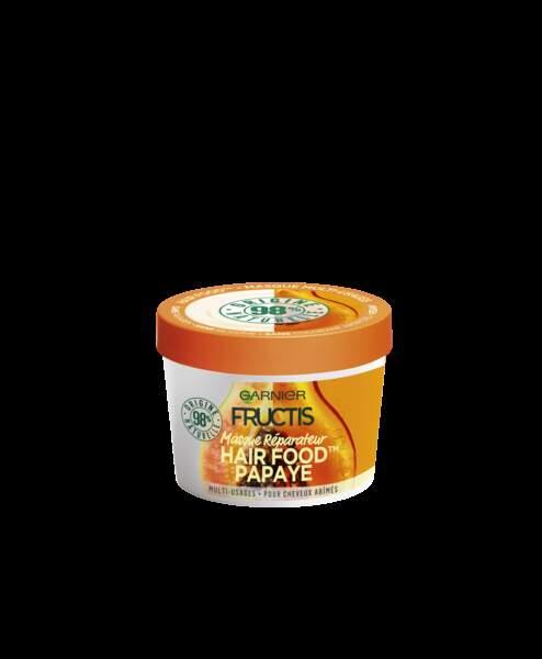 Masque réparateur papaye Fructis Hair Food, Garnier, 6,90 €