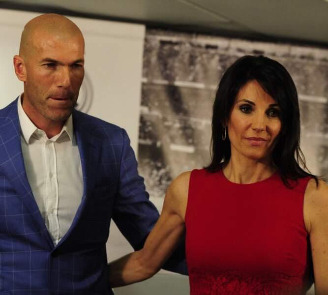 Zinédine Zidane et sa femme Véronique le 4 janvier 2015
