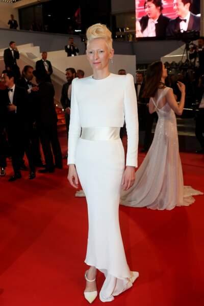 Tilda Swinton au Festival de Cannes le 19 mai 2017