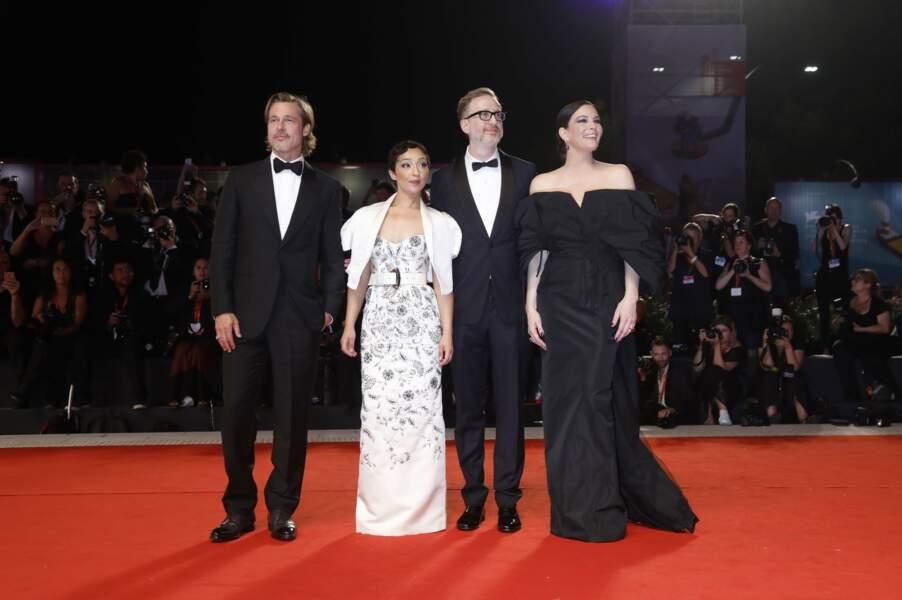 "Brad Pitt, Ruth Negga, James Gray et Liv Tyler à la première du film ""Ad Astra"""