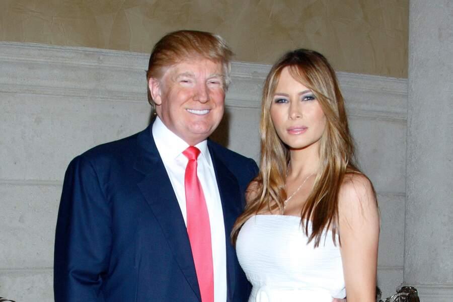 Melania et Donald Trump au club Mar A Lago à Palm Beach, le 27 décembre 2009