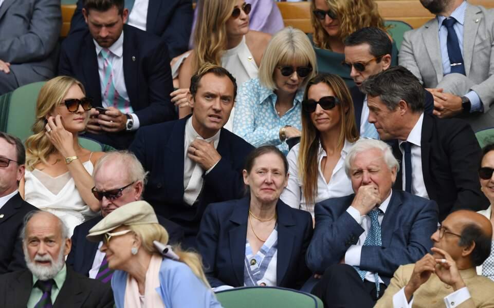 Jude Law, sa femme Phillipa Coan, Hugh Grant et sa femme Anna Elisabet Eberstein très élégants