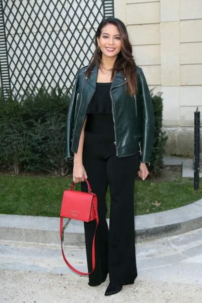 Vaimalama Chaves (Miss France 2019 ) au défilé Guy Laroche lors de la Fashion Week, le 27 février 2019