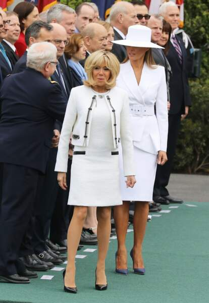 Brigitte Macron s'entend toujours avec Melania Trump pour accorder leurs tenues