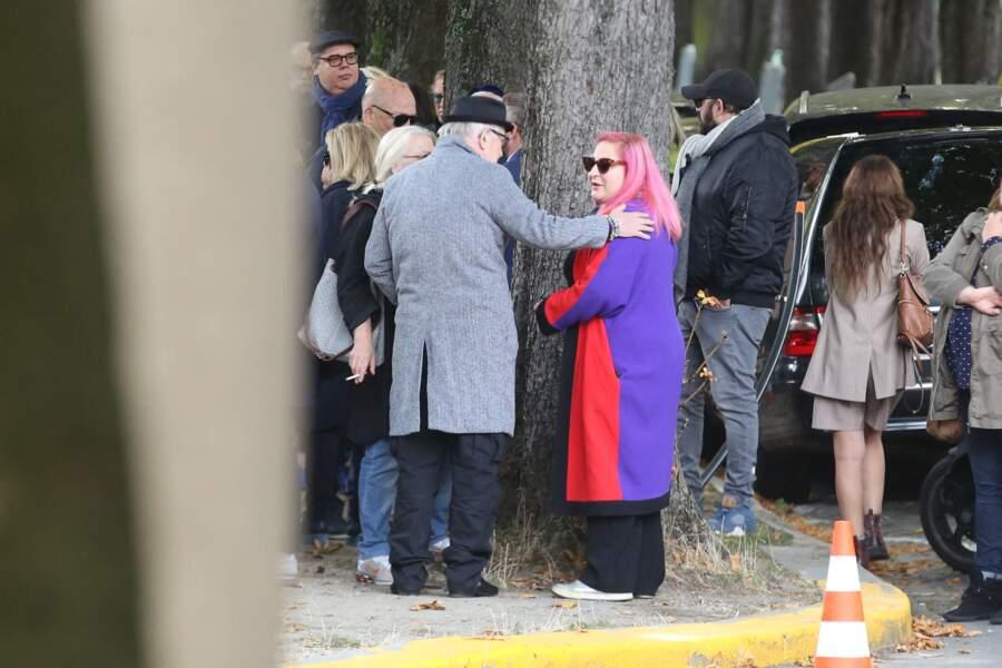 Marilou Berry aux obsèques de son père, Philippe Berry au cimetière de Pantin, le 9 septembre 2019