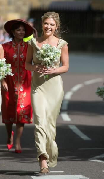 L'ex du prince Harry, Chelsea Davy parade pour le mariage de Melissa Percy et Thomas Van Straubenzee en juin 2013