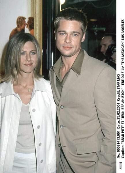 Jennifer Aniston et Brad Pitt en 2001