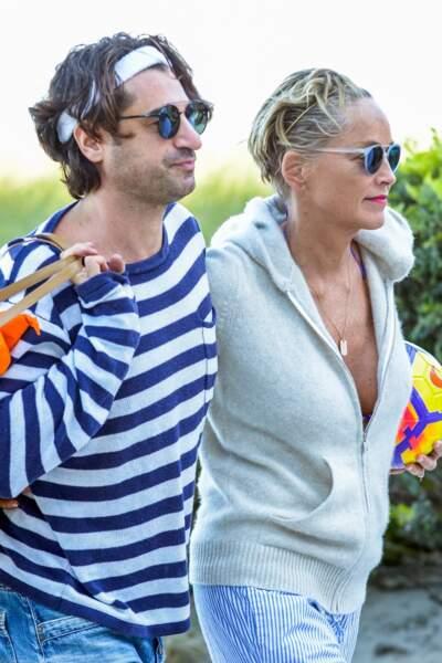 Sharon Stone (60 ans) et son nouveau compagnon, l'entrepreneur italien Angelo Boffa (41 ans)