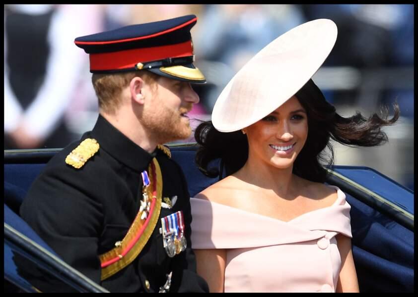Meghan Markle et le prince Harry pour le Trooping the Colour
