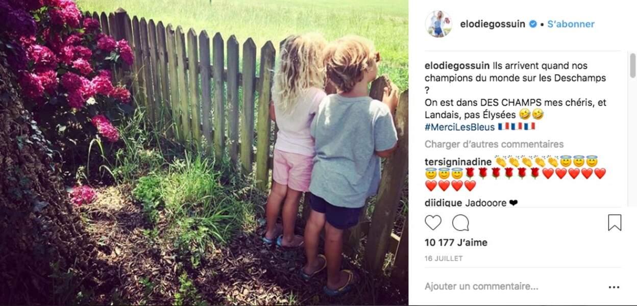 Les enfants d'Elodie Gossuin ont vécu la victoire des Bleus à la Coupe du monde depuis leur camping