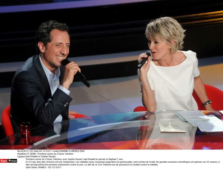 Avec le parrain de l'édition 2011, Gad Elmaleh