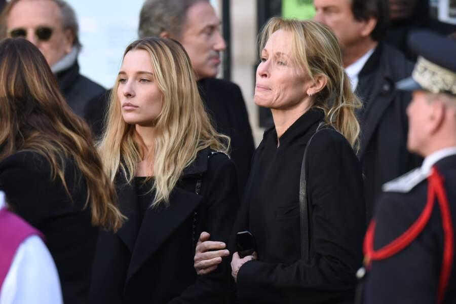 Estelle Lefebure et sa fille Emma marquées par le chagrin