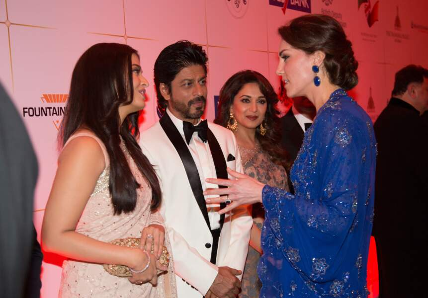 "Princeese Kate rencontre ""princesse"" Aishwarya Rai"
