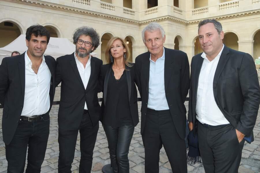 Anne Gravoin entourée de Tristan Duval, Radu Mihaileanu, Patrick Poivre d'Arvor (PPDA) et Benjamin Patou.