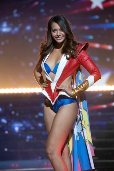 Vaimalama Chaves, Miss Tahiti élue Miss France 2019, lors de l'élection à Lille le 15 décembre 2019