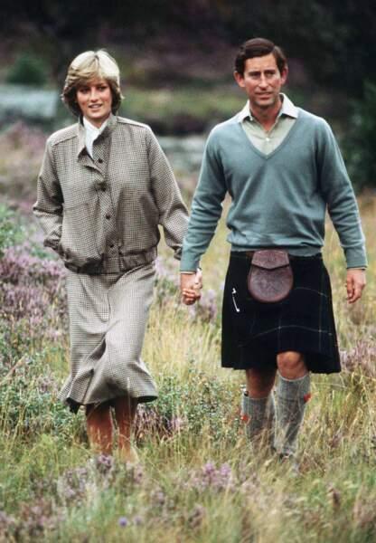 Princesse Diana et Charles, Ecosse, 1981