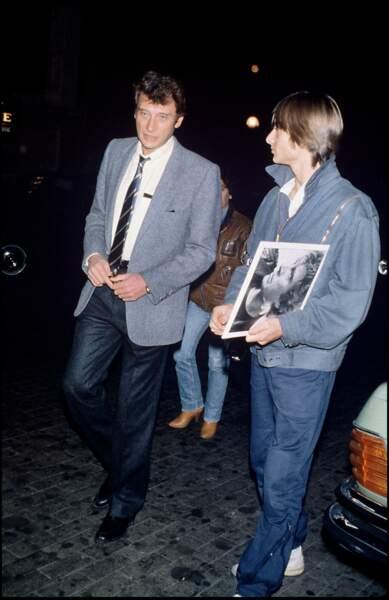 Johnny et David Hallyday en 1983