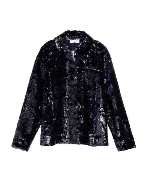 Veste à sequins, 185 €, Suncoo.