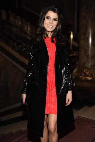 Karine Ferri au défilé Atelier Versace Haute Couture à Paris, en 2014