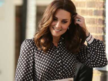 Kate Middleton radieuse dans une robe Kate Spade