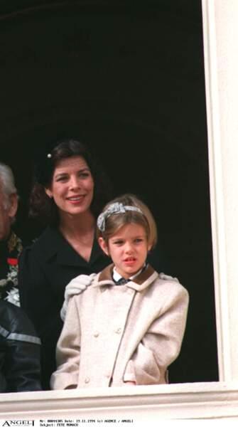 Au balcon du Palais, à l'occasion de la fête nationale monegasque, en 1994.