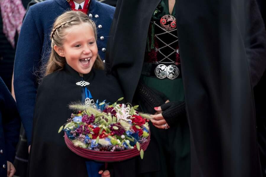 Joséphine de Danemark lors d'une visite officielle aux îles Féroé en Aout 2018